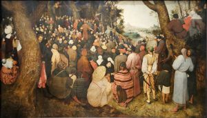 John the Baptist Preaching, Brueghel the Elder